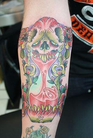 Skull hourglass tattoo zoo for Skull hourglass tattoo