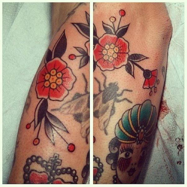 flower tattoo caroline