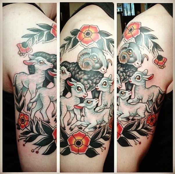 caroline sheep tattoo