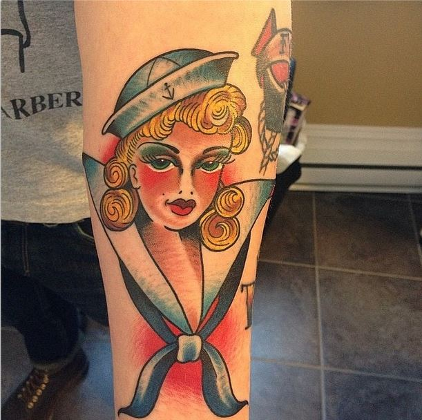 mason sailor girl tattoo
