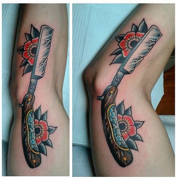 top traditional straight razor images for pinterest tattoos