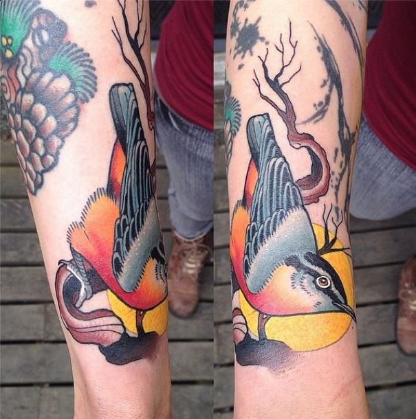 mason bird tattoo