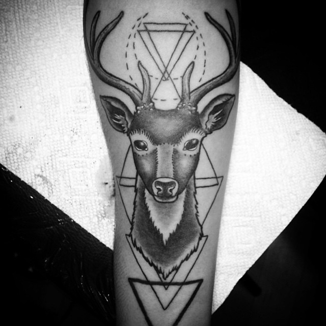 Hello my Deer. We are open 11-5 today! (Tattoo by @tamitattoos)