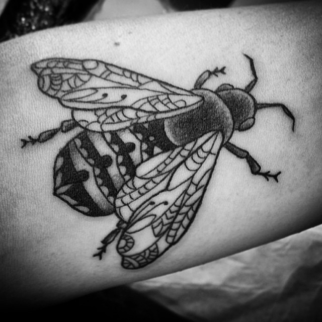 Buzz buzz... (tattoo by @tamitattoos)
