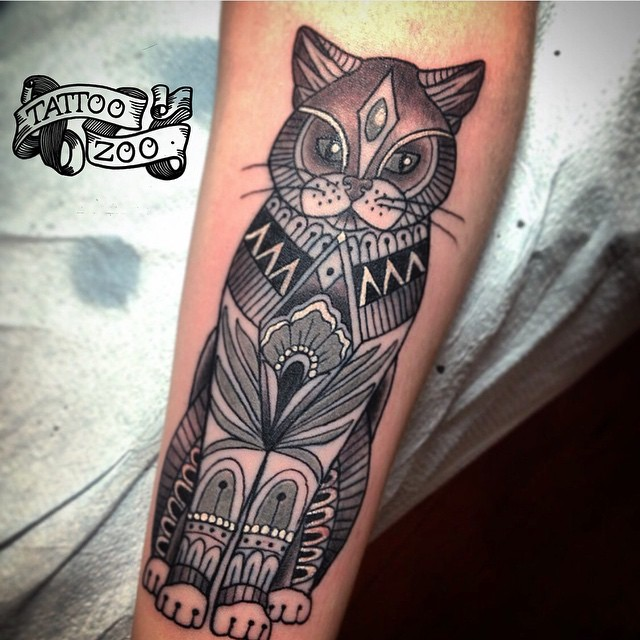 Meeeeow!! (tattoo by @tamitattoos). Call 250-361-1952 to book appointment.