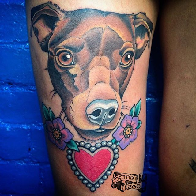 WOOF!!! (tattoo by @bold_and_classy)