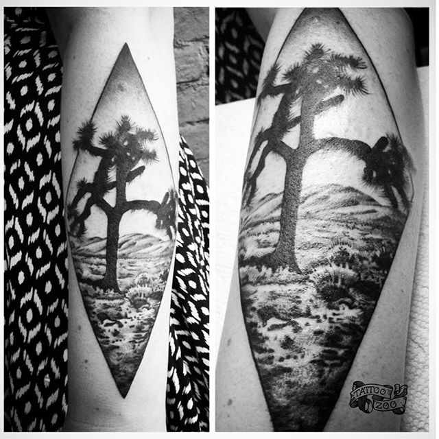 We are OPEN!! 11-6pm. (tattoo by @bold_and_classy). Inspired by @U2 #joshuatree album. Call 250-361-1952 to book appointment.