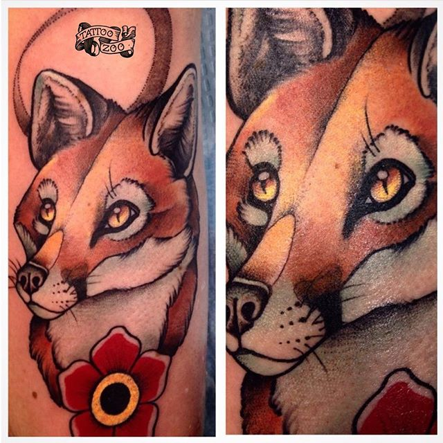 FOXY!!! Tattoo by @bold_and_classy during the @calgarytattooshow #calgarytattooconvention