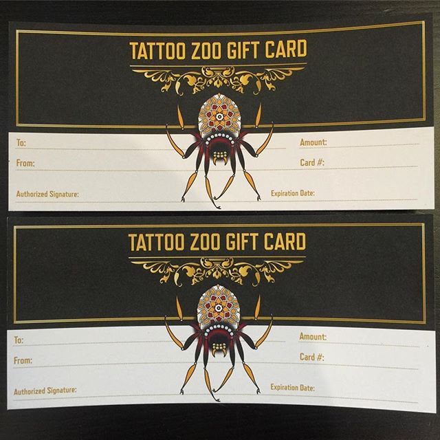 Gift Cards – TATTOO ZOO