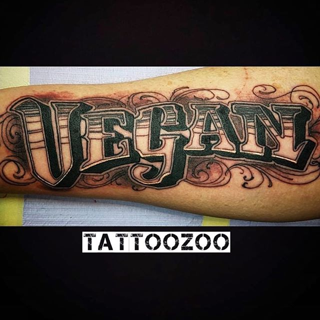 #vegan for the win!! #eatyourgreens (tattoo by @gerrykramer) Hit our CONTACT button to book a tattoo.