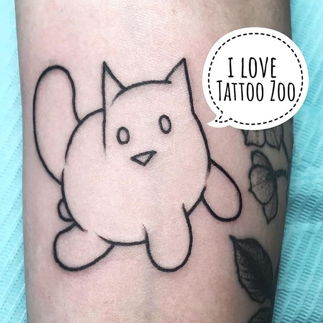 No time for walk-ins today!! We don't have any time available until WALK-IN WEDNESDAY!! (tattoo by @gerrykramer and perogy cat artwork by @gareth_gaudin)