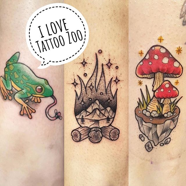 We L️VE tattooing you! (tattoos by @interstellarwhispers)