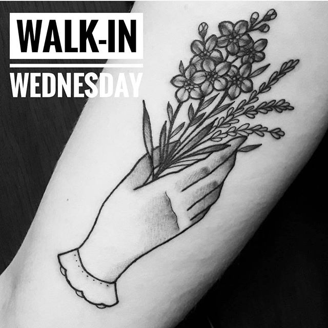 It's WALK-IN WEDNESDAY!!! We still have a few spots open for @marymadsentattoos today!! RUN down to 826 Fort St to grab a spot. First come - First served!!