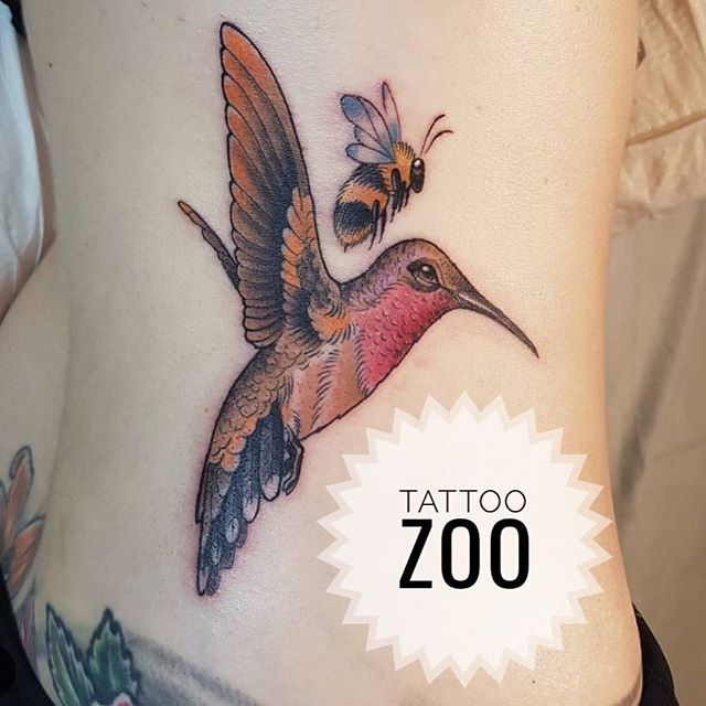 Buzzzzzz! (tattoo by @interstellarwhispers) Call 250-361-1952 or visit us at 826 Fort Street for your free consultation!