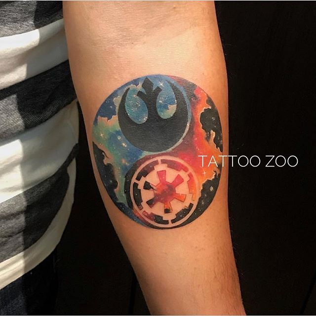 """""""May The Force be with you."""" (tattoo by @marymadsentattoos) Call 250-361-1952 to book. #starwars"""