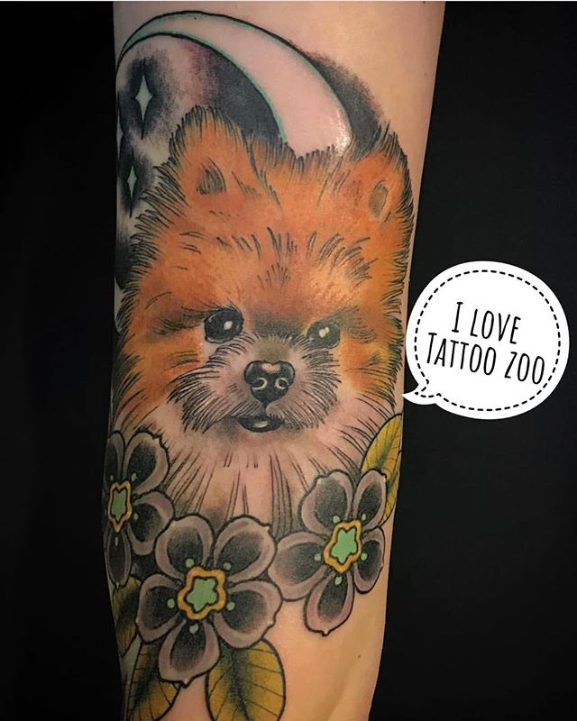 WOOF! (tattoo by @gerrykramer) Call 250-361-1952 to book time. 🐕