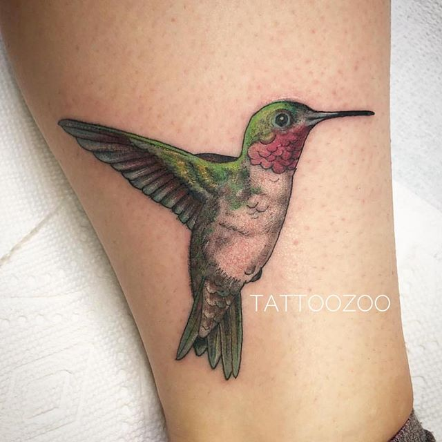 Magical hummingbird by @lunamillytattoo Visit 826 Fort St to book time.