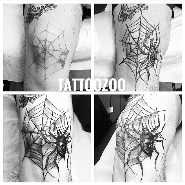 We love fixing up old and tired tattoos!!! Call 250-361-1952 to book your FREE consultation and show us your worst so we can make it your best!! 🖤 🕷 (tattoo by @lunamillytattoo)