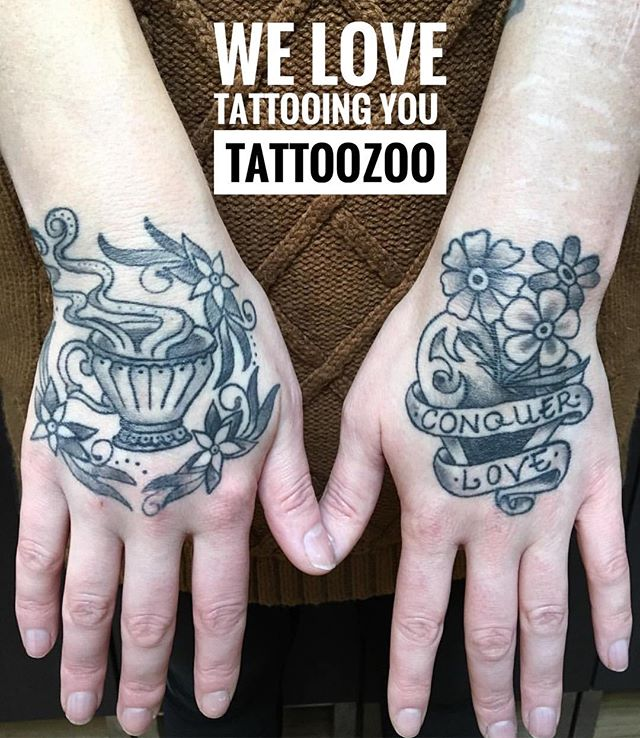 Open 11-6pm today! Have time for a few walk-ins!!! #welovetattooingyou (tattoo by @angiedifrantattoos)