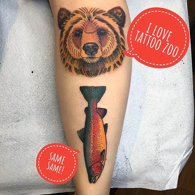 It's un-bear-elievable but @angiedifrantattoos has a wee bit of time for walk-ins this afternoon!!! Call 250-361-1952 or visit us at 826 Fort Street and grab some time!! #welovetattooingyou