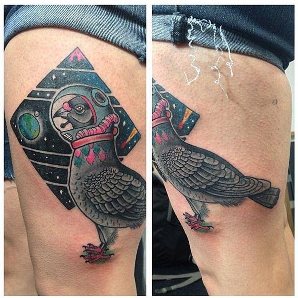 mason pigeon tattoo