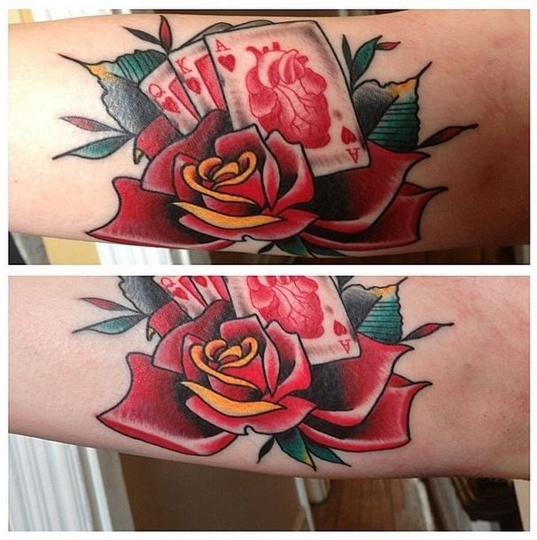 mason rose cards tattoo