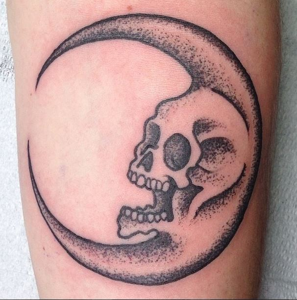 gerry skull moon pointillism