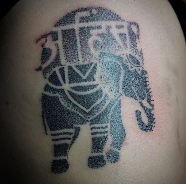 elephant tattoo gerry