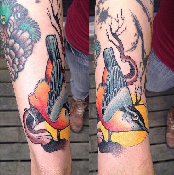 mason bird tattoo
