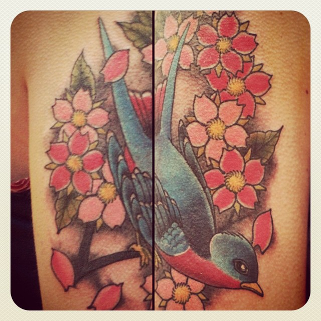 WE ARE OPEN 11-5 today. Why not put a bird on it? (Tattoo by @gerrykramer)