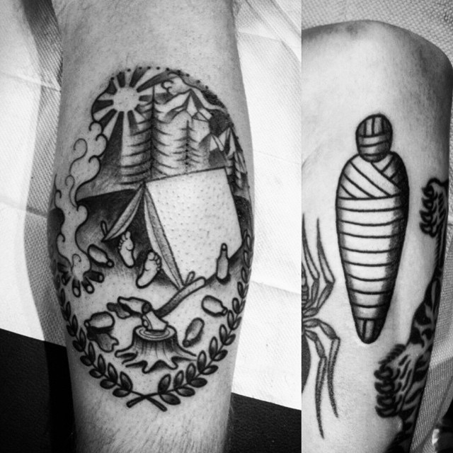 Mummy? (tattoo by @davidmaiertattoos). Call 250-361-1952 to book appointment.