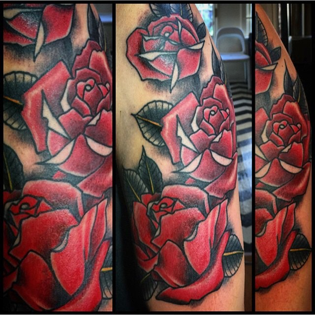 We are OPEN! 11-6. Come see us at 826 Fort Street. We will provide the roses. (tattoo by @gerrykramer)