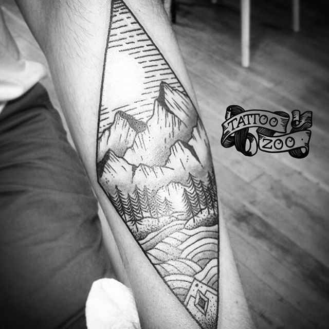 """""""In the end, you won't remember the time you spent working in the office or mowing your lawn. Climb that goddamn mountain."""" ~ Jack Kerouac (tattoo by @tamitattoos)"""