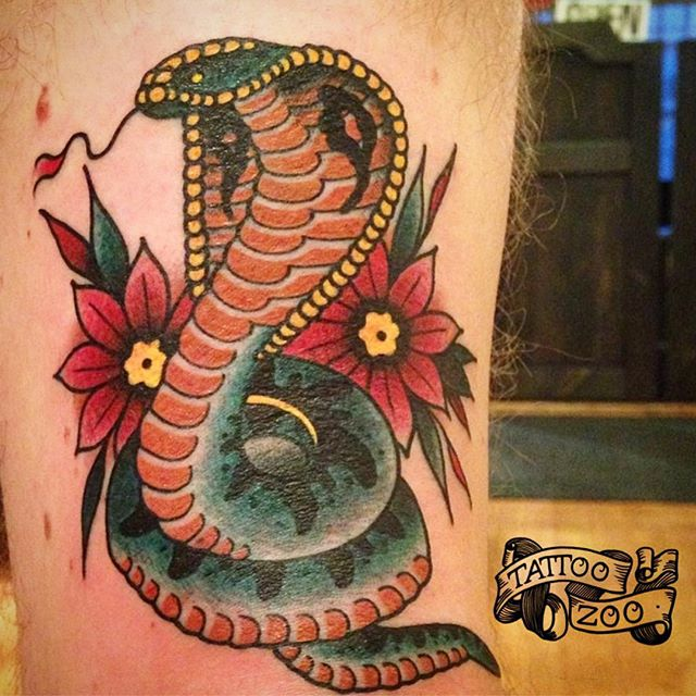 Snakes. Are. Awesome. (tattoo by @prairietats) We are OPEN til 6pm. Come to 826 Fort Street and get a tattoo!!!