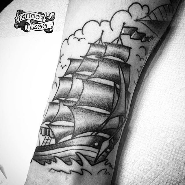 Tattoo by @tamitattoos - design by @sailorjerry Call 250-361-1952 to book.