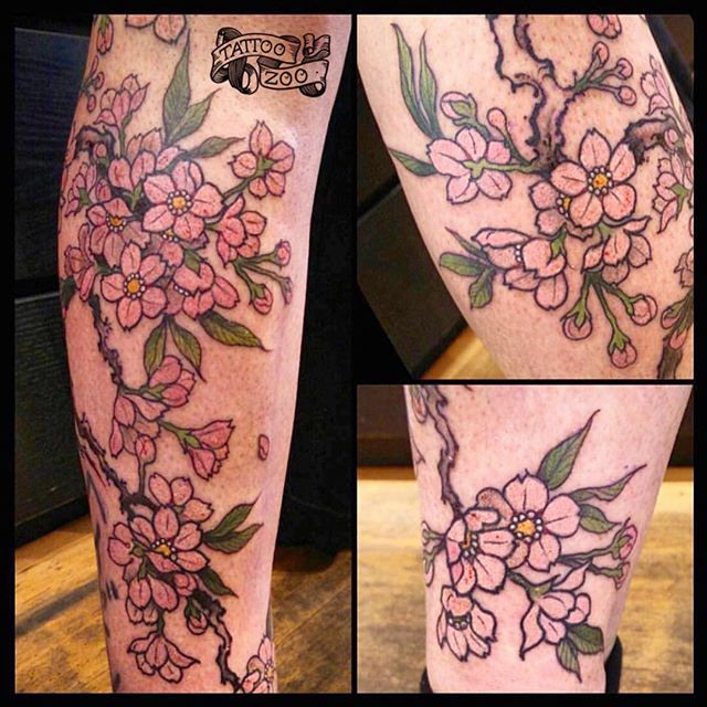 Gorgeous!!!! @davidmaiertattoos is the king of blossoms!  #yaasking #slay Call 250-361-1952 to book.