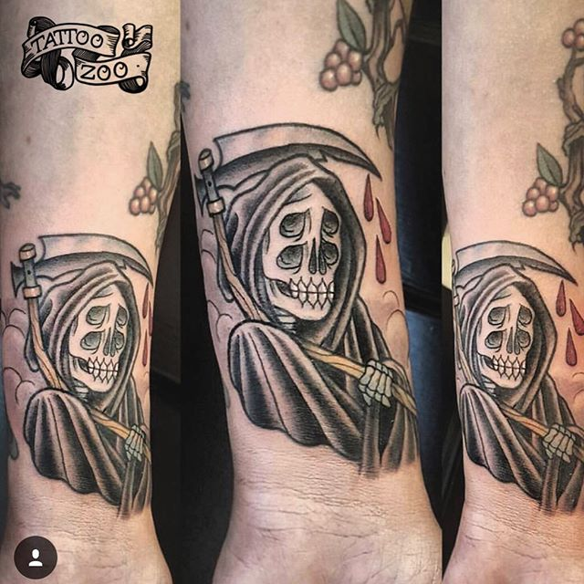 Don't fear the reaper reaper. (tattoo by @interstellarwhispers). Call 250-361-1952 to book.