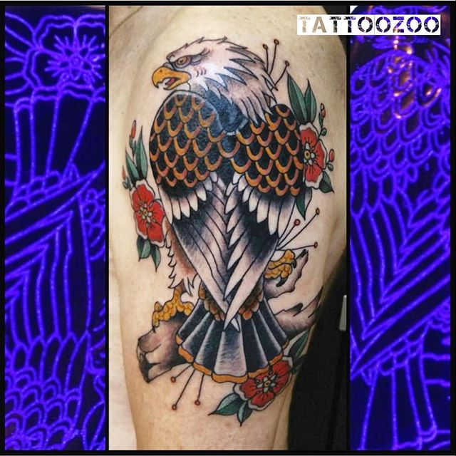 We are open 12-5pm today!!! Walk-ins welcome. (tattoo by @davidmaiertattoos)