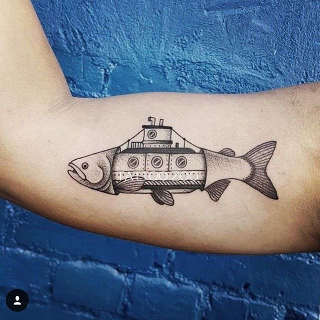 """A woman without a man is like a fish without a bicycle."" -Gloria Steinem (tattoo by @interstellarwhispers)"