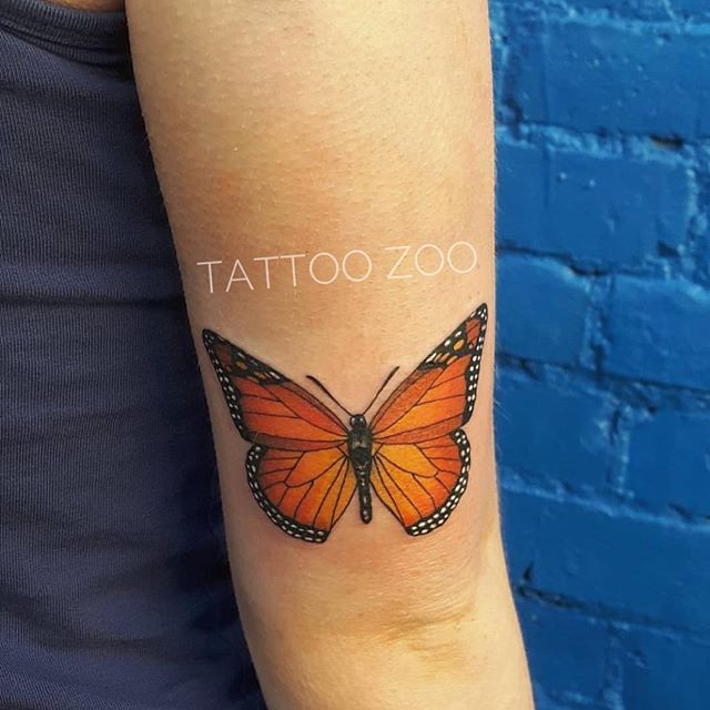 """""""You're my butterfly, sugar baby..."""" 🦋 (tattoo by @marymadsentattoos) Call 250-361-1952 to book time."""
