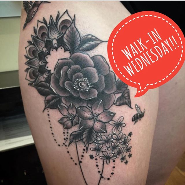 HEY YOU GUYS!! This Walk-in Wednesday @tamitattoos will be poking holes with needles ALL DAY! We open at 11am but suggest you get here early so you can get your name on the list!!
