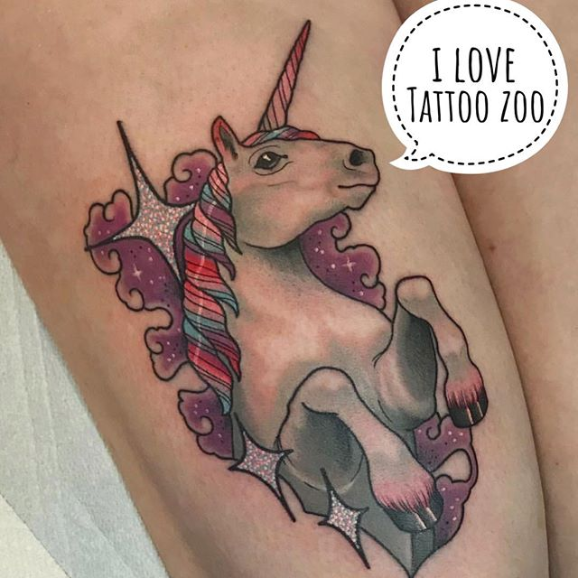 🦄 (tattoo by @marymadsentattoos) Call 250-361-1952 to book time.