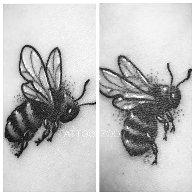 Matching Mother Daughter bee tattoos... (tattoo by the Queen Bee @tamitattoos) Call 250-361-1952 to book time.