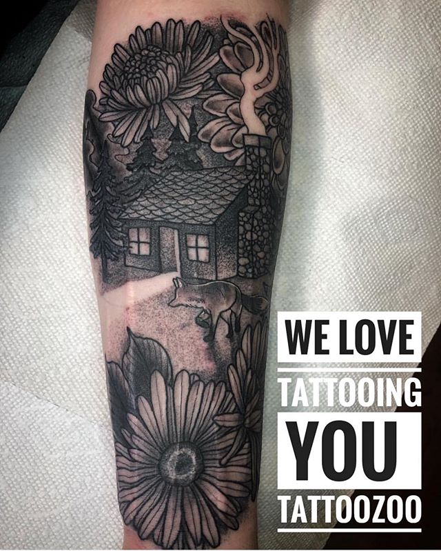 We LOVE tattooing you. (tattoo by @gerrykramer) Call 250-361-1952 to book your FREE consultation. 🖤