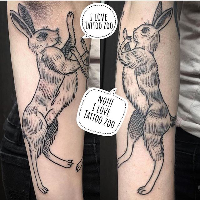 For those of you asking... our long weekend holiday hours are as follows: 🐇 🐇 🐇 🐇 🐇 🐇 🐇 🐇 🐇 🐇 🐇 🐇 🐇 🐇 WE NEVER CLOSE! We are open 11-6 Friday & Saturday and 11-5 Sunday & Monday!! #weLOVEtattooingyou (tattoo by @gerrykramer)