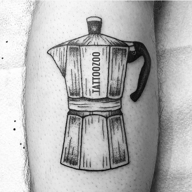 We love coffee almost as much as we love tattooing you!! 🖤 (tattoo by @mothershellytattoos) Visit us at 826 Fort Street for a FREE consultation. ️