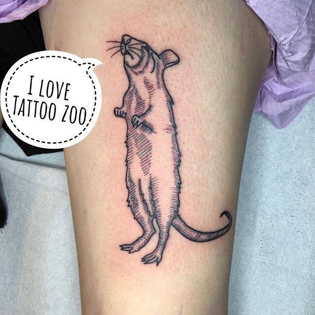 Rattatat tat... (tattoo by @angiedifrantattoos)