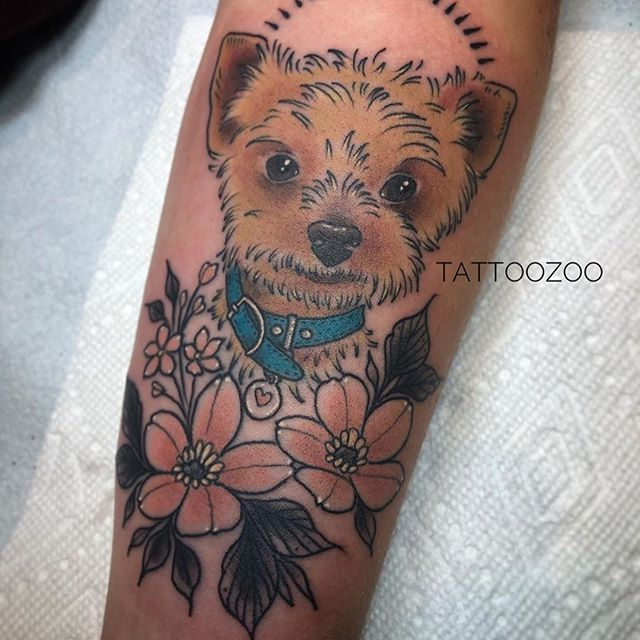 I'm a puppy. You're a puppy... (tattoo by @tamitattoos)
