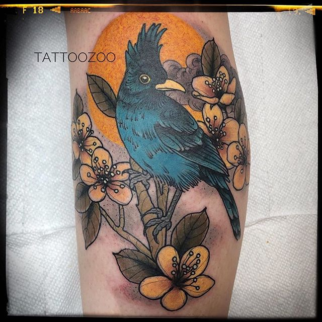 KAW KAW!!! (tattoo by @gerrykramer) Call 250-361-1952 to book a FREE consultation. #putabirdonit