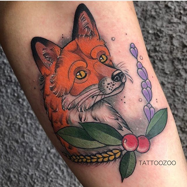 Foxy fox... (tattoo by @mothershellytattoos)